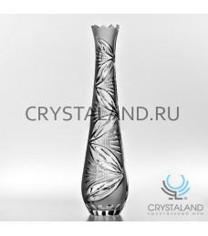 Хрустальная ваза для цветов, бесцветный хрусталь 51 см.