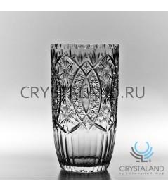 Хрустальная ваза для цветов, бесцветный хрусталь 33 см.