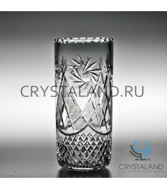 Хрустальная ваза для цветов, бесцветный хрусталь 30.5 см.