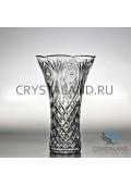 Хрустальная ваза для цветов, бесцветный хрусталь 26 см.-2018-07-30
