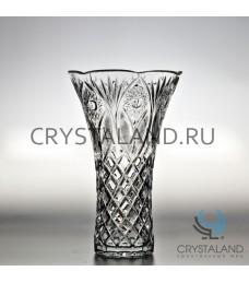 Хрустальная ваза для цветов, бесцветный хрусталь 26 см.