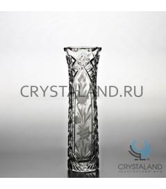 Хрустальная ваза для цветов, бесцветный хрусталь 25 см.