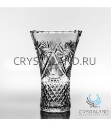 Хрустальная ваза для цветов, бесцветный хрусталь 25.5 см.