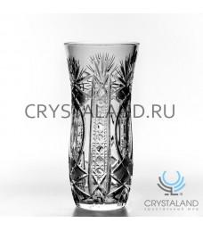 Хрустальная ваза для цветов, бесцветный хрусталь 24 см.