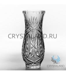 Хрустальная ваза для цветов, бесцветный хрусталь 21,5 см.