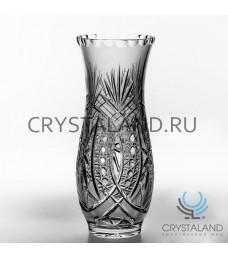 Хрустальная ваза для цветов, бесцветный хрусталь 24.5 см.