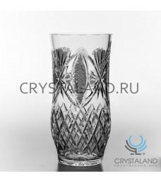 Хрустальная ваза для цветов, бесцветный хрусталь 27 см.