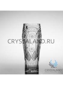 Хрустальная ваза для цветов, бесцветный хрусталь 29.5 см.