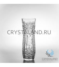 Хрустальная ваза для цветов, бесцветный хрусталь 27.5 см.