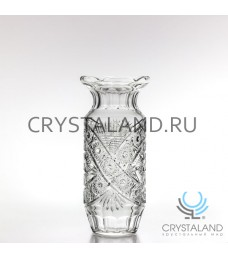 Хрустальная ваза для цветов, бесцветный хрусталь 32.5 см.