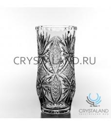 Хрустальная ваза для цветов, бесцветный хрусталь 26.5 см.