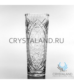 Хрустальная ваза для цветов, бесцветный хрусталь 30 см.