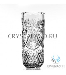 Хрустальная ваза для цветов, бесцветный хрусталь, 21 см.