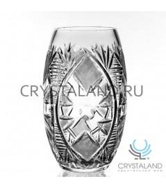 Хрустальная ваза для цветов, бесцветный хрусталь 23.5 см.