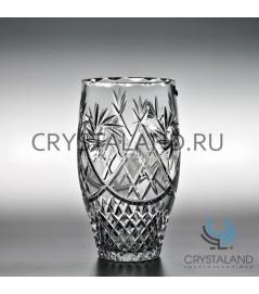 Хрустальная ваза для цветов, бесцветный хрусталь 20 см.