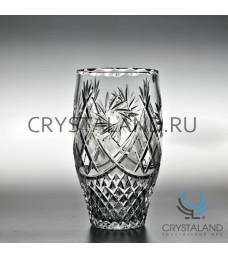 Хрустальная ваза для цветов, бесцветный хрусталь 25.1 см.