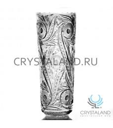 """Хрустальная ваза для цветов """"Чародейка"""", бесцветный хрусталь 45 см."""