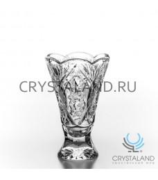 """Хрустальная ваза для цветов """"Чешская"""", бесцветный хрусталь 20 см."""