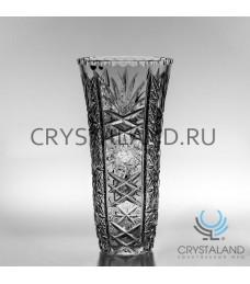 """Хрустальная ваза для цветов """"Иней"""", бесцветный хрусталь 31 см."""