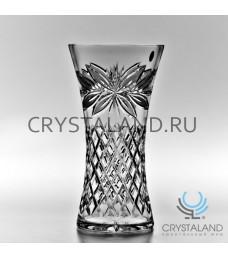 "Хрустальная ваза для цветов ""Ирис"", бесцветный хрусталь 30 см."