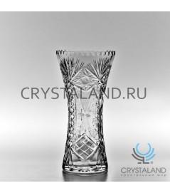 """Хрустальная ваза для цветов """"Искра"""", бесцветный хрусталь 25 см."""