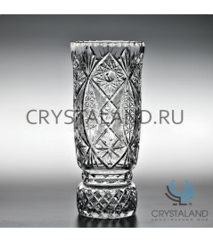 "Хрустальная ваза для цветов ""Иван"" (большая), бесцветный хрусталь 29.6 см."