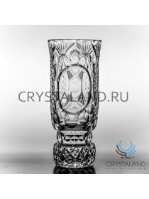 """Хрустальная ваза для цветов """"Иван"""" (большая), под гравировку, бесцветный хрусталь 29.6 см."""