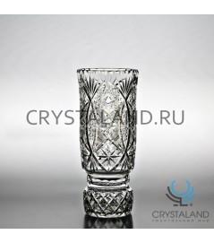 """Хрустальная ваза для цветов """"Иван"""" (малая), бесцветный хрусталь 21 см."""