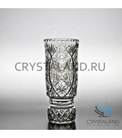 "Хрустальная ваза для цветов ""Иван"" (средняя), бесцветный хрусталь 26.5 см."