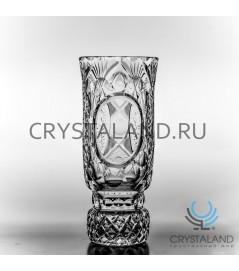 """Хрустальная ваза для цветов """"Иван"""" (средняя) под гравировку, бесцветный хрусталь 25 см."""