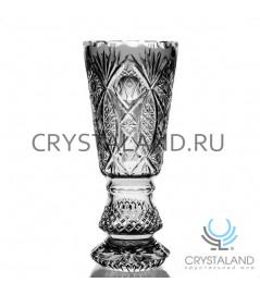 """Хрустальная ваза для цветов """"Кубок"""", бесцветный хрусталь 37 см."""