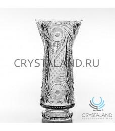 """Хрустальная ваза для цветов """"Ладья"""", бесцветный хрусталь 42 см."""