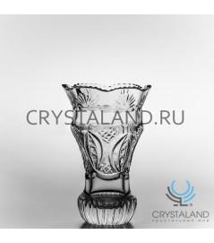 """Хрустальная ваза для цветов """"Лилия"""", бесцветный хрусталь 21 см."""