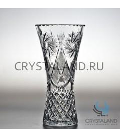 """Хрустальная ваза для цветов """"Лотос"""", бесцветный хрусталь 26.5 см."""
