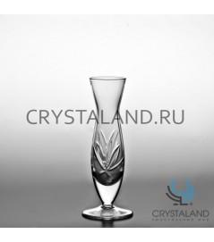 """Хрустальная ваза для цветов """"Лотос"""", бесцветный хрусталь 17 см."""