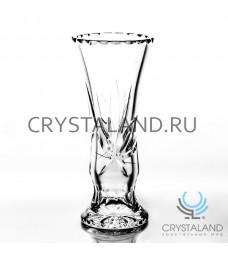 """Хрустальная ваза для цветов """"Лотос"""", бесцветный хрусталь 25 см."""