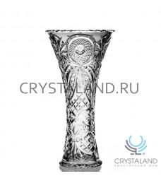 """Хрустальная ваза для цветов """"Лотос"""", бесцветный хрусталь 30 см."""