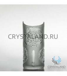"""Хрустальная ваза для цветов """"Луна"""", бесцветный хрусталь 26 см."""