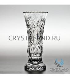 Хрустальная ваза для цветов (малая), бесцветный хрусталь 19 см.