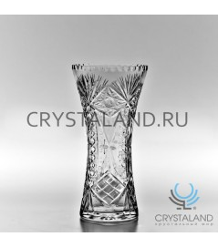 Хрустальная ваза для цветов (малая), бесцветный хрусталь 22 см.