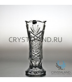 "Хрустальная ваза для цветов ""Малина"" (малая), с гравировкой 19 см."