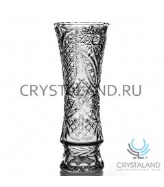 """Хрустальная ваза для цветов """"Первоцвет"""", бесцветный хрусталь 32 см."""