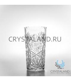 """Хрустальная ваза для цветов """"Пинвилл"""", бесцветный хрусталь, 24 см."""