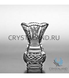 "Хрустальная ваза для цветов ""Подснежник"", бесцветный хрусталь 13 см."