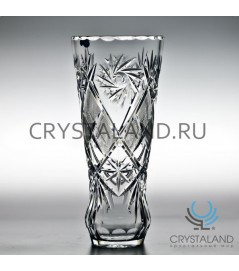 Хрустальная ваза для цветов (средняя), бесцветный хрусталь 25 см.
