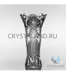 "Хрустальная ваза для цветов ""Юбилейная"" (на 50 лет) под гравировку, бесцветный хрусталь 37,5 см."
