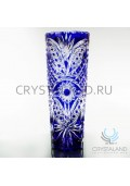 Синяя ваза для цветов из цветного хрусталя кобальт 30 см.-2019-07-02