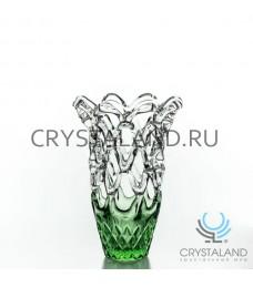 """Ваза для цветов """"Ажур"""" из стекла ручной работы, 22 см."""