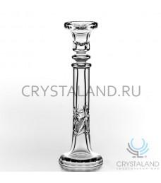 Хрустальный подсвечник для одной свечи, 28 см