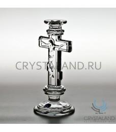 """Хрустальный подсвечник для одной свечи """"Крест"""", 21.5 см"""